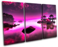 Japan PURPLE PINK Sunset Seascape - 13-0758(01C)-TR32-LO
